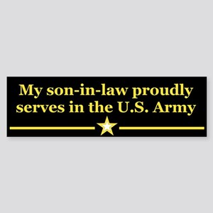 Son-in-law serves Bumper Sticker