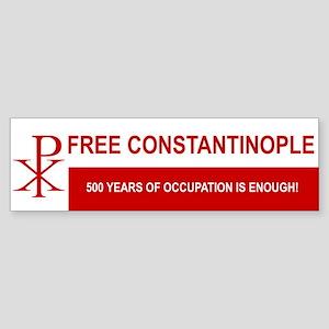 Free Constantinople Bumper Sticker