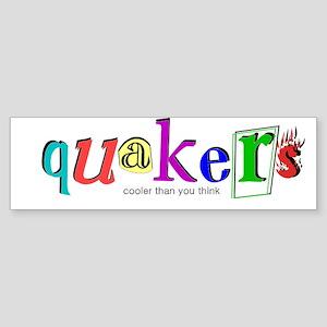 quakers- cooler Bumper Sticker