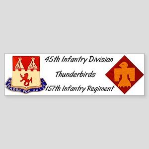 Bumper Sticker w/ 157th Crest