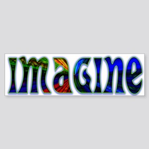 Imagine Bumper Sticker