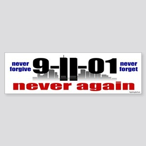 9-11-01 Memorial Bumper Sticker