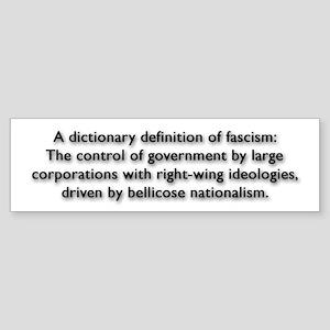 Fascism Sticker (Bumper)