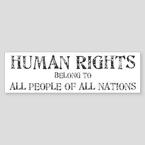 Human Rights Bumper Sticker
