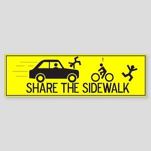 Share The Sidewalk Bumper Sticker
