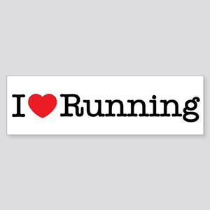 I love running Sticker (Bumper)