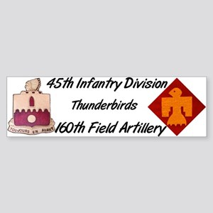 160th Field Artillery Bumper Sticker