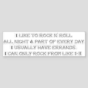 Rock N Roll Sticker (Bumper)