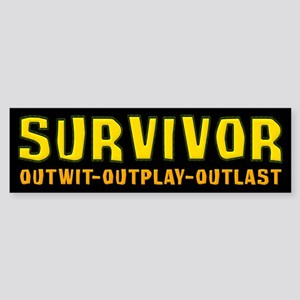 Survivor Outwit Outplay Outlast Sticker (Bumper)