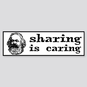 Marx: Sharing is Caring Sticker (Bumper)