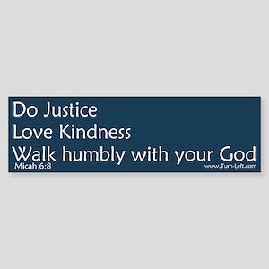 Bumper Sticker - Micah 6:8