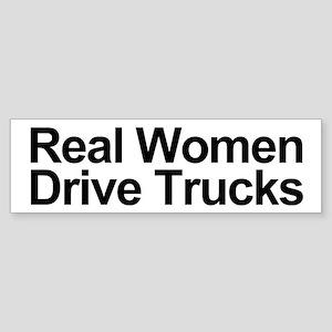 Real Women Drive Trucks Bumper Sticker