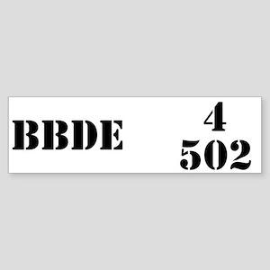 4/502 INF Bumper Sticker