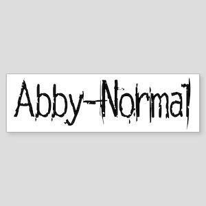 Abby Normal 2 Sticker (Bumper)