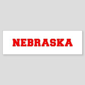 nebraska-fresh-red Bumper Sticker
