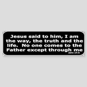 Bible verse John 14:6 Sticker (Bumper)