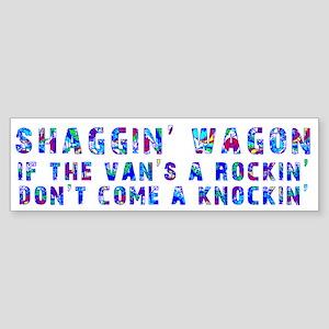 Shaggin' Wagon Circles Bumper Sticker