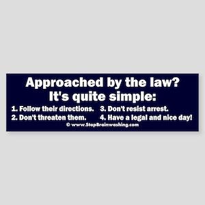 Simple police steps Sticker (Bumper)