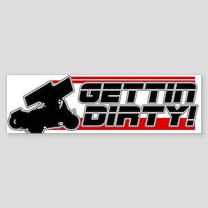 Gettin Dirty -Red Bumper Sticker