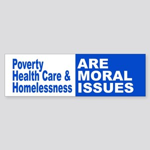 Moral Issues Bumper Sticker