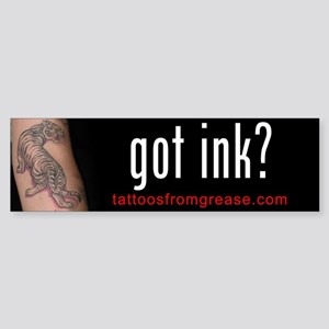 014 Tattoos From Grease Bumper Sticker