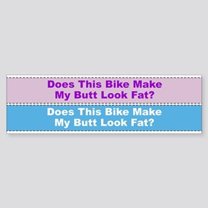 Butt Look Fat Bicycle Frame Sticker
