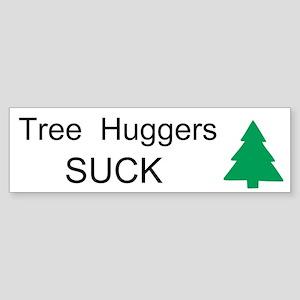 Tree Huggers Suck Custom Sticker (Bumper)