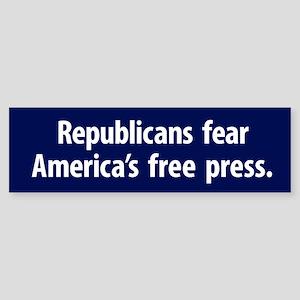 Republicans Fear A Free Press Bumper Sticker