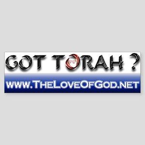"""""""Got Torah?"""" Bumper Sticker"""