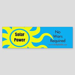 Solar Power No War Required Bumper Sticker