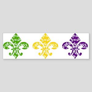 Fleur Mardi Swirl Bumper Sticker
