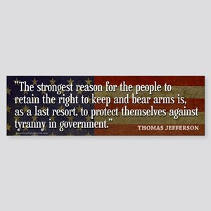 JEFFERSON: 2nd Amendment Bumper Sticker
