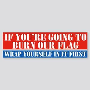 Flag Burner (bumper) Bumper Sticker