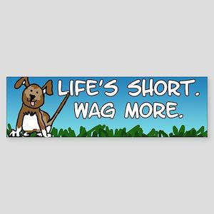 Wag More Sticker (Bumper)