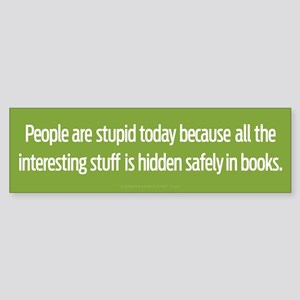 Hidden In Books Bumper Sticker