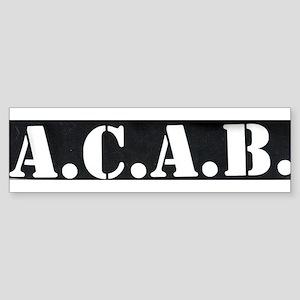 The A.C.A.B. Bumper Sticker