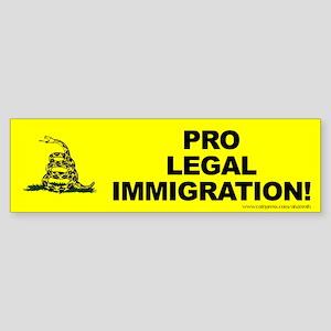 Tea Party Pro Immigration, (bumper) Bumper Sticker