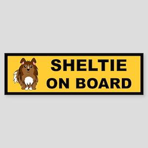 Sheltie On Board (sable) Bumper Sticker