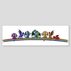 Rainbow Dragons Bumper Sticker