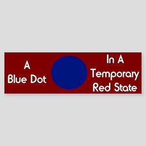 Blue Dot Bumper Sticker