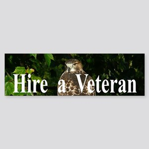 Hire a Veteran Sticker (Bumper)