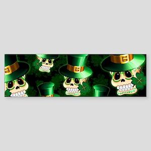 St Patrick Skull Cartoon Bumper Sticker