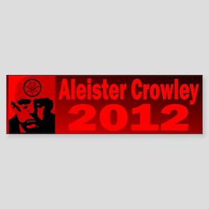 Aleister Crowley 2012 Sticker (Bumper)