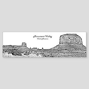 B@W Monument Valley Sticker (Bumper)