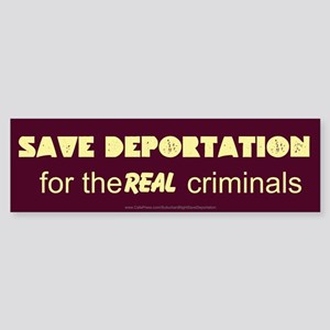 Save Deportation Sticker (Bumper)