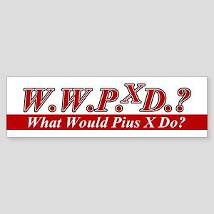 WWPXD? Bumper Sticker
