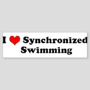 I Love Synchronized Swimming Bumper Sticker