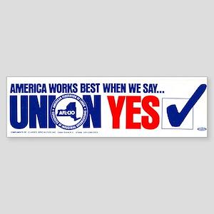 Union Yes Sticker (Bumper)
