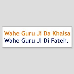 Wahe Guru Bumper Sticker