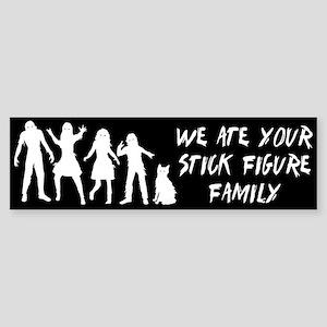 Zombies ate stick figures Sticker (Bumper)
